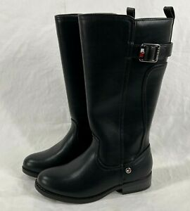 Tommy Hilfiger Riding Boot Toddler Girl Size 13 Black Stretch Buckle NWT