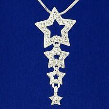 Stars Necklace Made With Swarovski Crystal Wish Star Pendant Jewelry