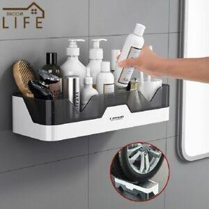 Bathroom Shelf WC Shampoo Strong Holder Shower Rack Shelves Wall Mount Storage