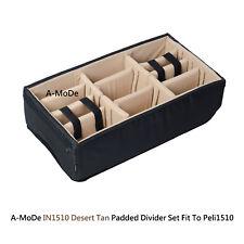Padded divider set fit Pelican1510 peli IM2500 Cases (NO Case)  Desert Tan