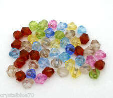 250 x 5mm Small Acrylic Bicone Spacer Beads Mixed Colours Buy 1 Get 1 Free BOGOF