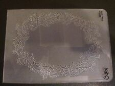 Sizzix Large Embossing Folder FRAME HOLLY & BERRIES  fits Cuttlebug 4.5x5.75in