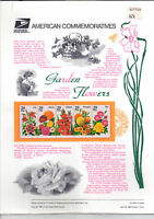 #2829-33 Garden Flowers USPS  Commemorative Panel  #438