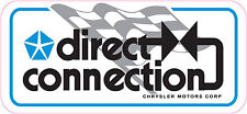 CHRYSLER MOPAR DIRECT CONNECTION CHECKERED RACING FLAG DECAL STICKER