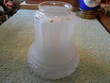 Vtg. Satin Frost Floral Rope Panel Design Lamp Chandelier Sconce Shade Diffuser