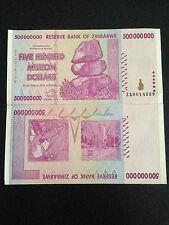 ZIMBABWE 500 Million Dollars Banknote World  Money Currency Note Bill