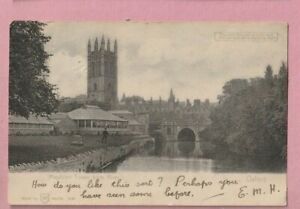 Hold to light, HTL, Transparency, Magdalen tower, Oxford. greetings postcard.