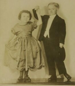 1920's Rubin & Cherry Lilliputian Midget Circus Show Dancers RPPC Photo Carnival