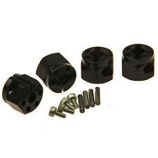 4Pcs Metal 12mm Wheel Hex Drive Hubs set black for Axial SCX10 RC Crawler car