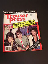 TROUSER PRESS British Rock & Roll Magazine THE ROLLING STONES & ROXY MUSIC