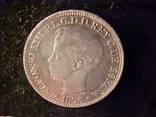 PUERTO RICO ONE PESO 1895 AU CLEANED