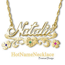 Personalized Name Necklace In 14k Solid Gold   | Designers Cut ✔️