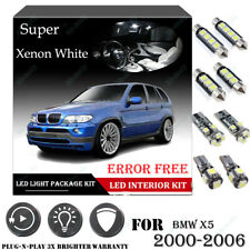 19Pcs For BMW X5 2000-2006 Xenon White 6K Car Interior LED Light Package Kit 12V
