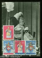 VATICAN  CITY 1966 POPE JOHN XXIII SET ON MAXIMUM CARD FIRST DAY  CANCELED