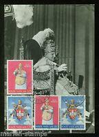 VATICAN  CITY 1966 POPE JOHN XXIII SET ON MAXIMUM CARD FIRST DAY  CANCELED