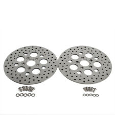 "11.5"" Brake Rotor Front & Rear Super Spoke SS Round Hole Disc For Harley Touring"