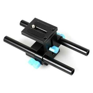 15mm Rail Rod Support System Baseplate Mount Plate for DSLR Camera Follow Focus