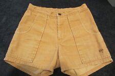 "Vintage 1970's Ocean Pacific Corduroy Shorts 27"" Waist, Tan, Good Condition"