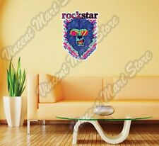 "Rock Star Lion Face Sunglasses Music Wall Sticker Room Interior Decor 18""X25"""