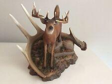 """Neil J. Rose sculpture Deer Stag Titled """"Challenger"""" Signed Dated 1996 Lmt Edt"""