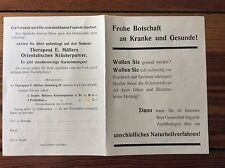 Werbeblatt, Therapeut E. Müllers Orientalisches Kräuterpulver, um 1932