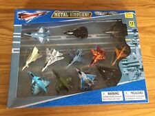 12 Diecast Model USAF Fighter Jet Military Airplane Toy Play Set F-16, F-15 F-14