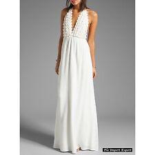 Vestito Lungo Copricostume Bianco Donna Woman Cover Up Maxi Dress 110293