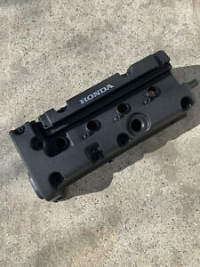 Honda K24 K20 type r accord civic rsx valve cover Wrinkle Black