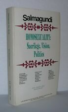 ON HOMOSEXUALITY SALMAGUNDI Paul Robinson Michel Foucault Interview 1st Edition