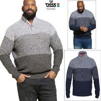 Duke D555 Mens Big Tall King Size Remington Knitted Top Zipper Neck Twist Jumper