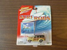 1941 Chevy Special Deluxe Wagon, Yellow w/Boards, Johnny Lightning 1/64 DieCast