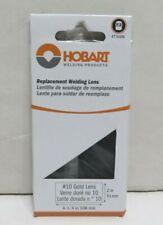Hobart Welding Helmet Replacement Lens Gold Shade 10 2in X 4 14in 770406