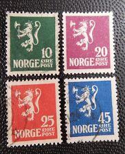 Norway Lion Rampant 1922/1924 Scott# 100-103  Minkus# 126-129