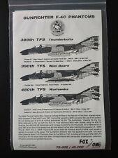 Fox One Decals 48-002 Gunfighter F-4C Phantoms 1:48 scale decal set
