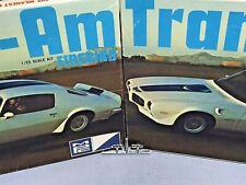 "MPC 1971 PONTIAC FIREBIRD ""TRANS-AM"" KIT #1-0451-225 AMT 1/25 CUSTOM TAIL LIGHTS"