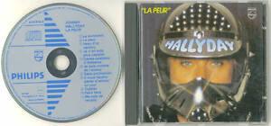 JOHNNY HALLYDAY INTROUVABLE CD ORIGINAL LA PEUR GERMANY LABEL FLECHE BLEUE