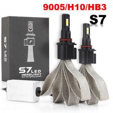 2X 9005 HB3 H10 LED Headlight Kit Fanless 60W 6400LM Bulbs 6000K High Power