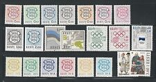 Estonia: Lot of 22 Different stamps mint NH. ET07