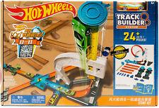 Mattel Hot Wheels DLF28 - Track Builder Stunt Kit Rennbahn Looping Bahn mit Auto