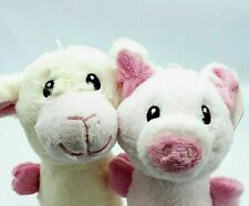 """NEW Pet Water Bottle Plush Toys Lamb and Pig 12"""" Long LOT OF 2 Free Shipping"""