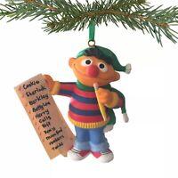 Vintage Ernie/Sesame Street Collectible Christmas Ornament, 1993, Jim Henson