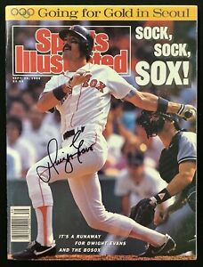 Dwight Evans Signed Sports Illustrated 9/26/88 No Label RedSox Baseball Auto JSA