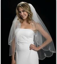 """Edward E. Berger Wedding Veil White 2-Tiered 30"""" and 36"""". Rare Online Find. New."""
