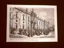 Incisione di Gustave Dorè del 1874 La fabbrica dei tabacchi di Siviglia Spagna