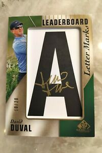 2021 SP Game Used Golf - David Duval Leaderboard Letter Marks Auto 10/20