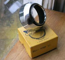 37mm PUSH FIT Slip On Lens Hood sombra de latón niquelado Cromo Brillante