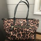MICHAEL KORS Kelsey Medium Tote Purse Bag Handbag Nylon Leopard or Cheeta