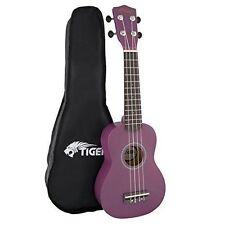 Tiger Beginner Soprano Ukulele and Bag - Purple