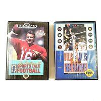 Sega Genesis Game LOT Joe Montana 2 Sports Talk & Bulls Vs Lakers No Manuals