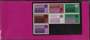 1971 Australian Christmas Post Office Stamps Pack 7x7c First Block variety issue